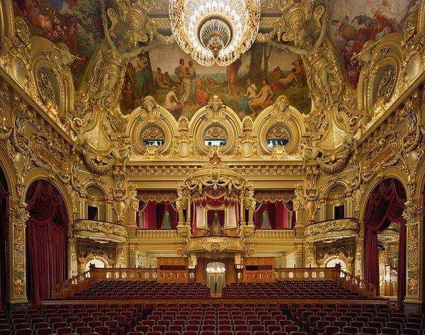 Interior, Opera de Monte Carlo, Monte Carlo, Monaco. | Teatro de ...