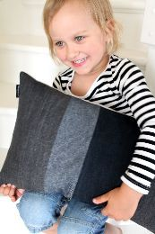Pillowcase. Recycled denim. By Johanna Sandberg. Picture for inspiration only.