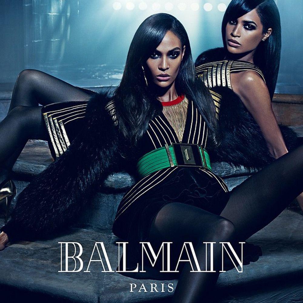 Erika and Joan Smalls for Balmain Fall 2015