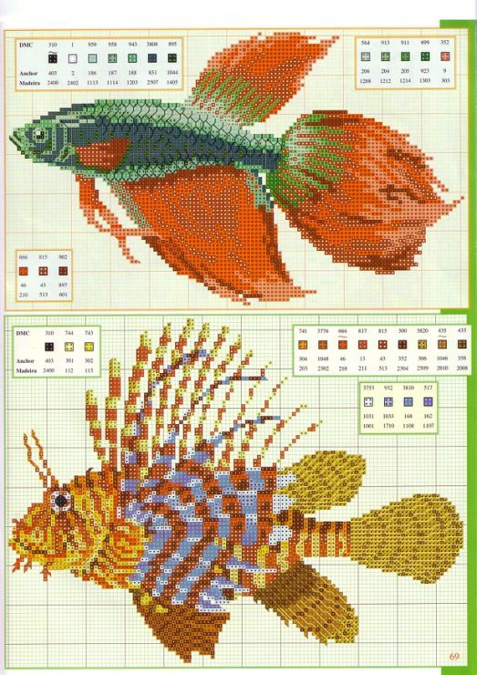 fish cross-stich patterns   Ocean, sea, animals   Pinterest   De ...