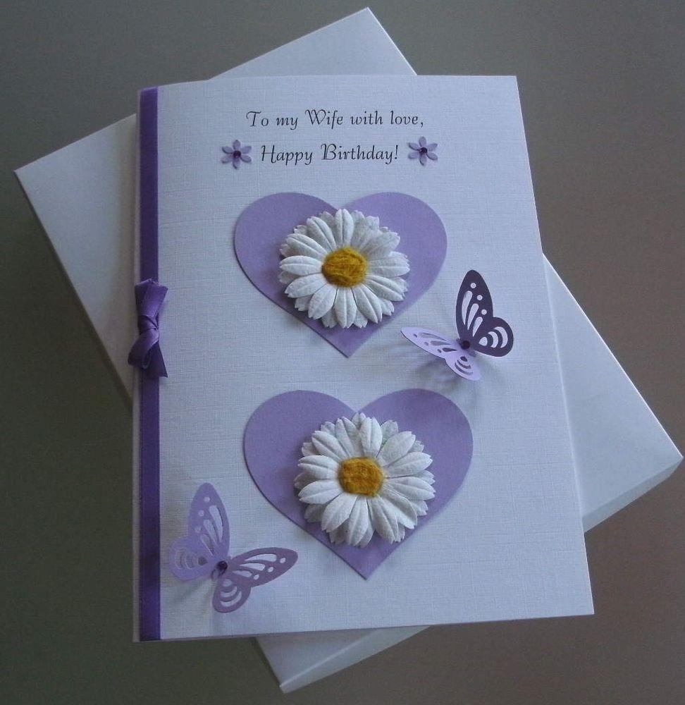 Handmade boxed birthday card wifepartnergirlfriend a handmade
