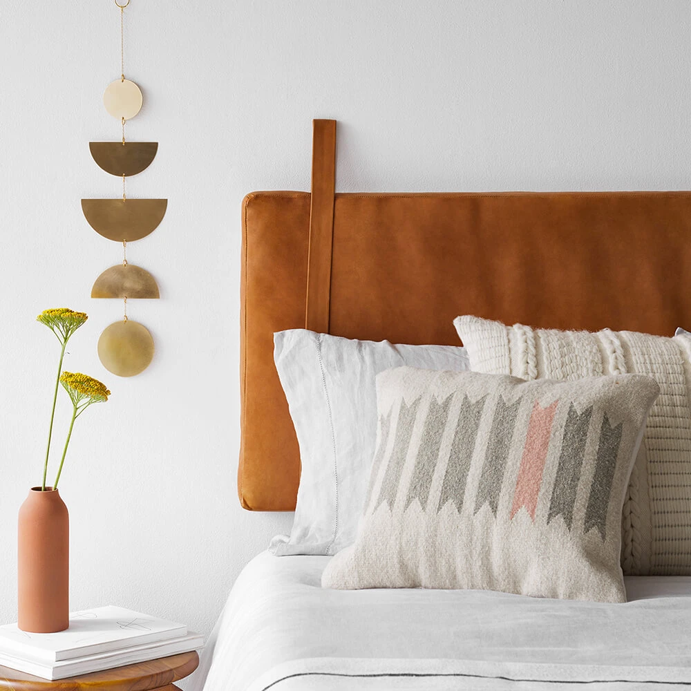 Hanging Leather Headboard In 2020 With Images Leather