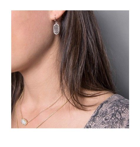 Lee Silver Earrings in Platinum Drusy - Add a little sparkle to your look with the Lee silver earrings in platinum drusy by Kendra Scott.