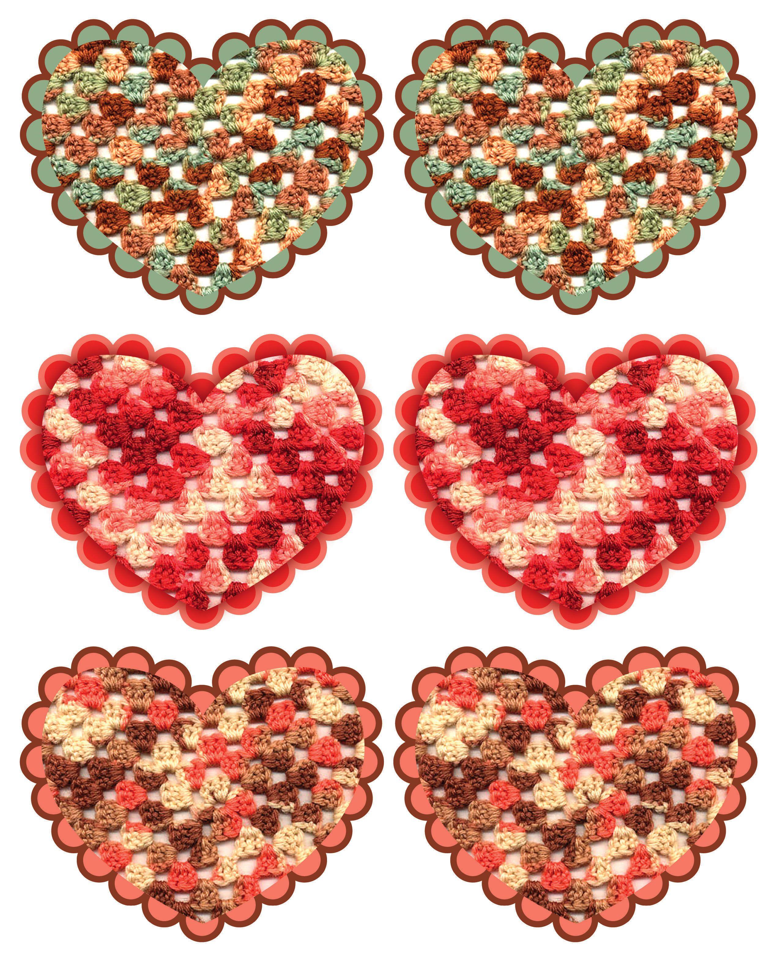 Image detail for -crochet heart garland1 242x300 crochet heart ...