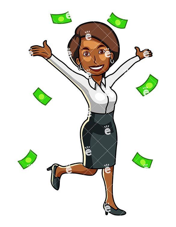 Money Raining Down Around A Black Business Woman Friendlystockcom