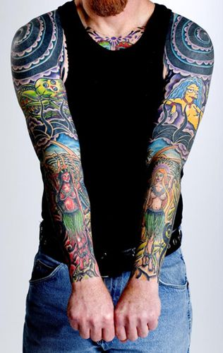 Full Color Sleeve Tattoo: Looking For Unique Tattoos? Full Color Sleeves (With