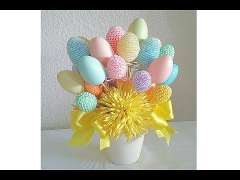 DIY: FOUR EASTER FLORAL ARRANGEMENTS/ BUDGET FRIENDLY EASTER GIFTS, SPRINGTIME FUN! - YouTube