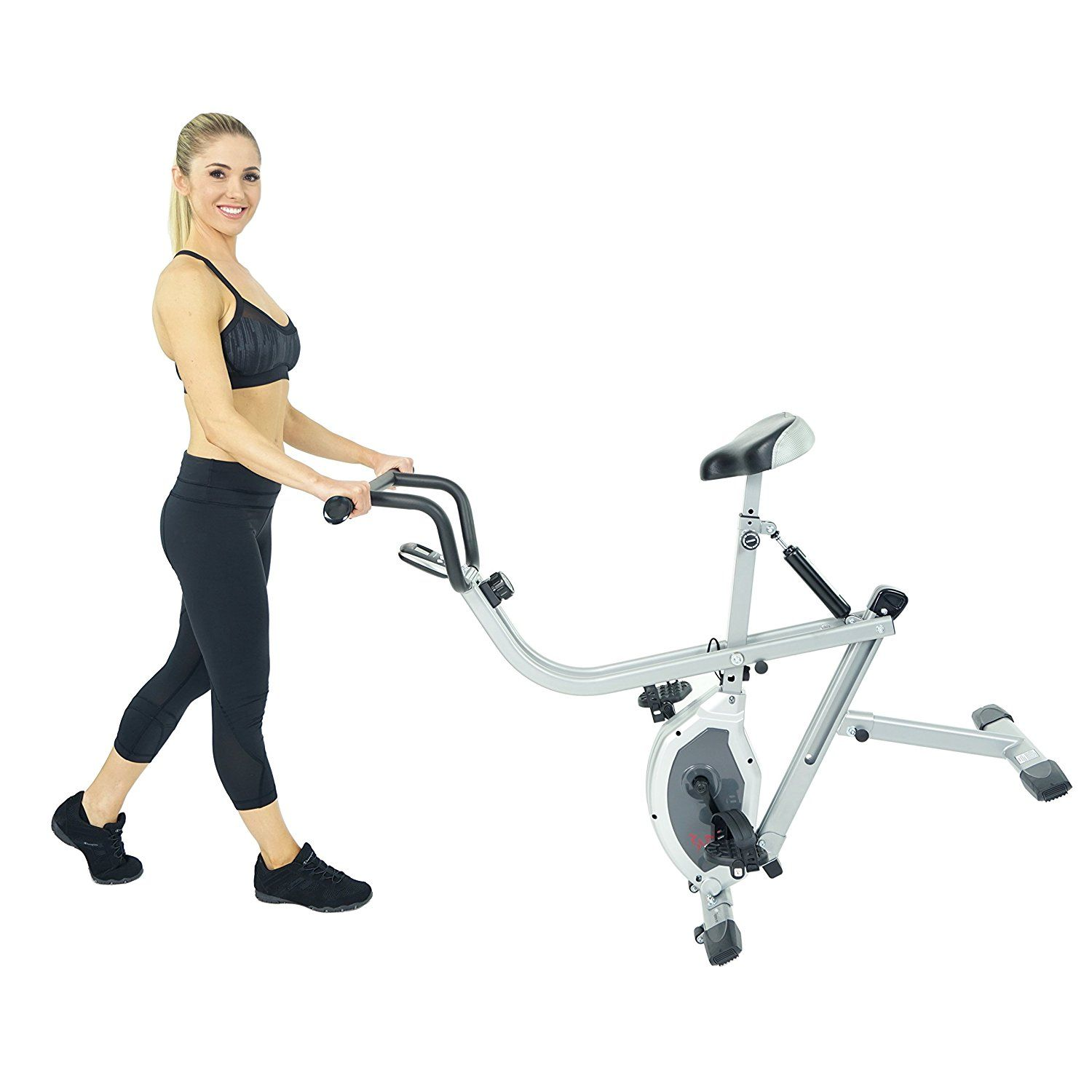 Sunny Health Fitness B2620 2 In 1 Rowing Machine Exercise Bike Health Fitness Cat Fitness Bike