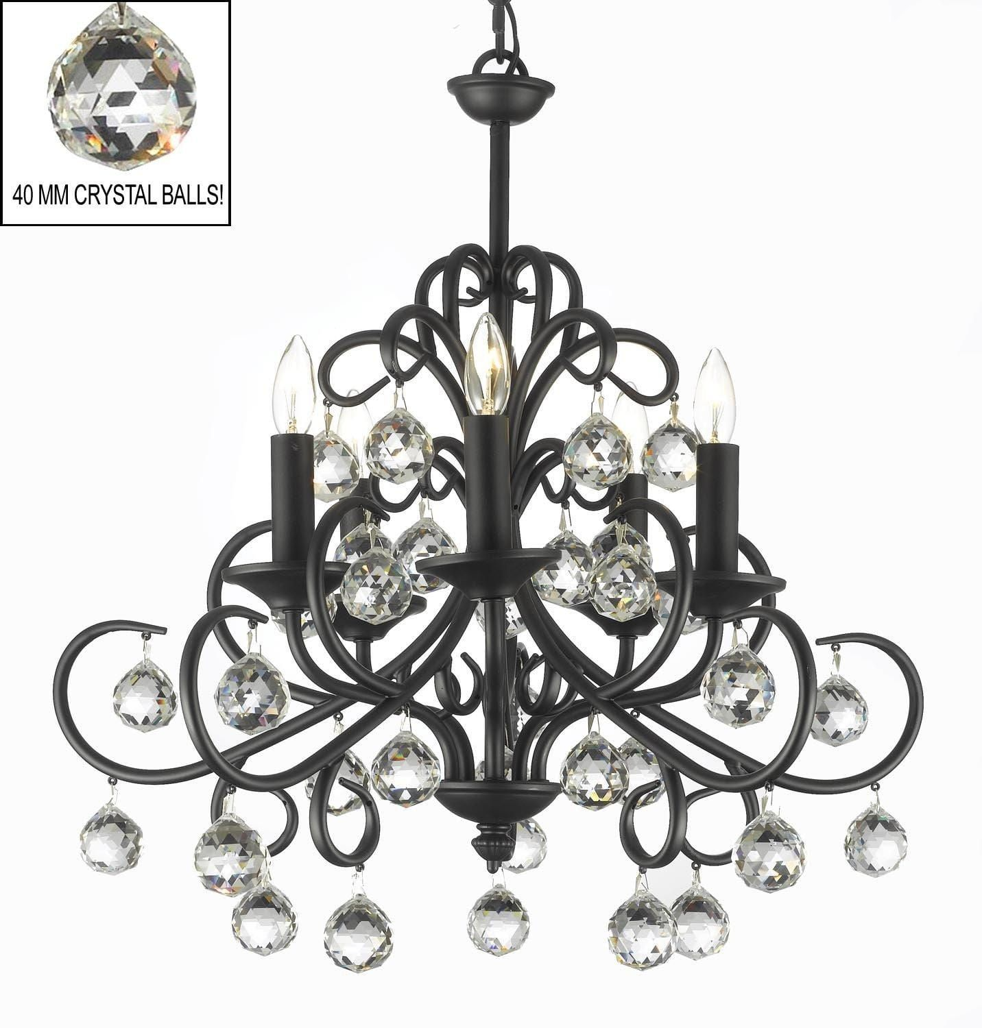 Bellora Crystal Wrought Iron Chandelier Lighting With Faceted ...