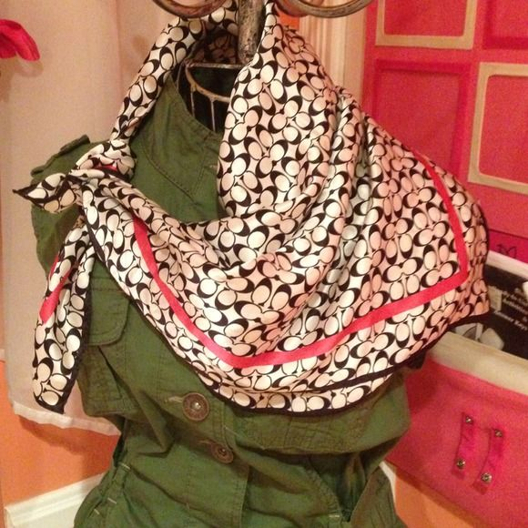 REDUCEDCoach silk scarf Could also be worn as a head band Coach Accessories Scarves & Wraps