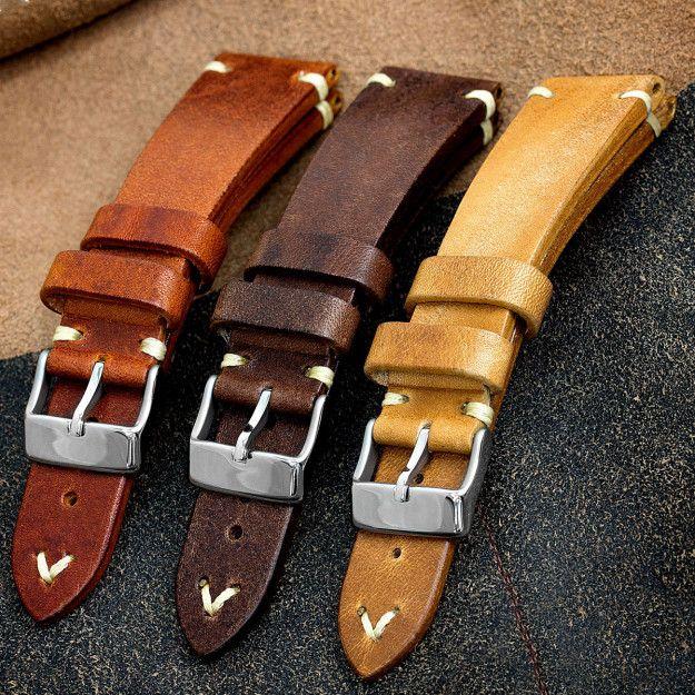 Beautiful handmade  | Кожаный ремешок для часов, Кожаные
