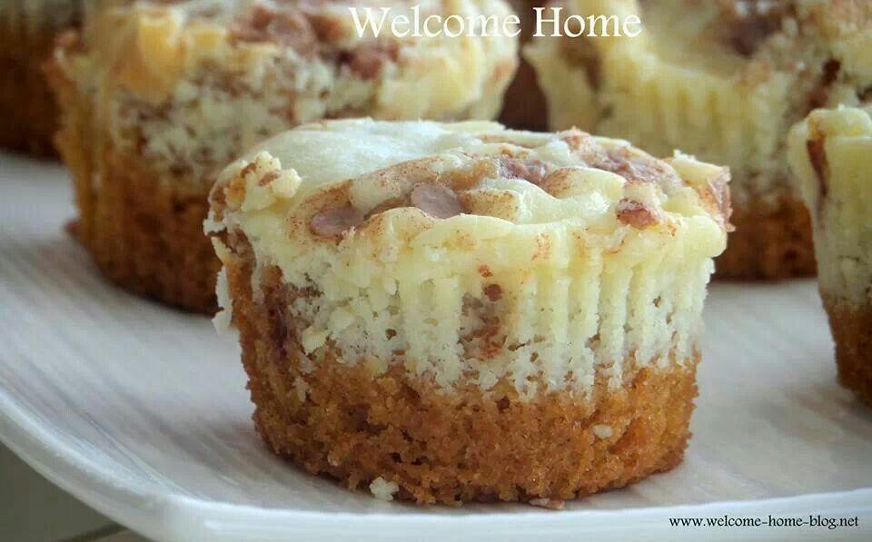 Pumpkin cheesecake muffins | Coffee cakes--Sweet Rolls | Pinterest