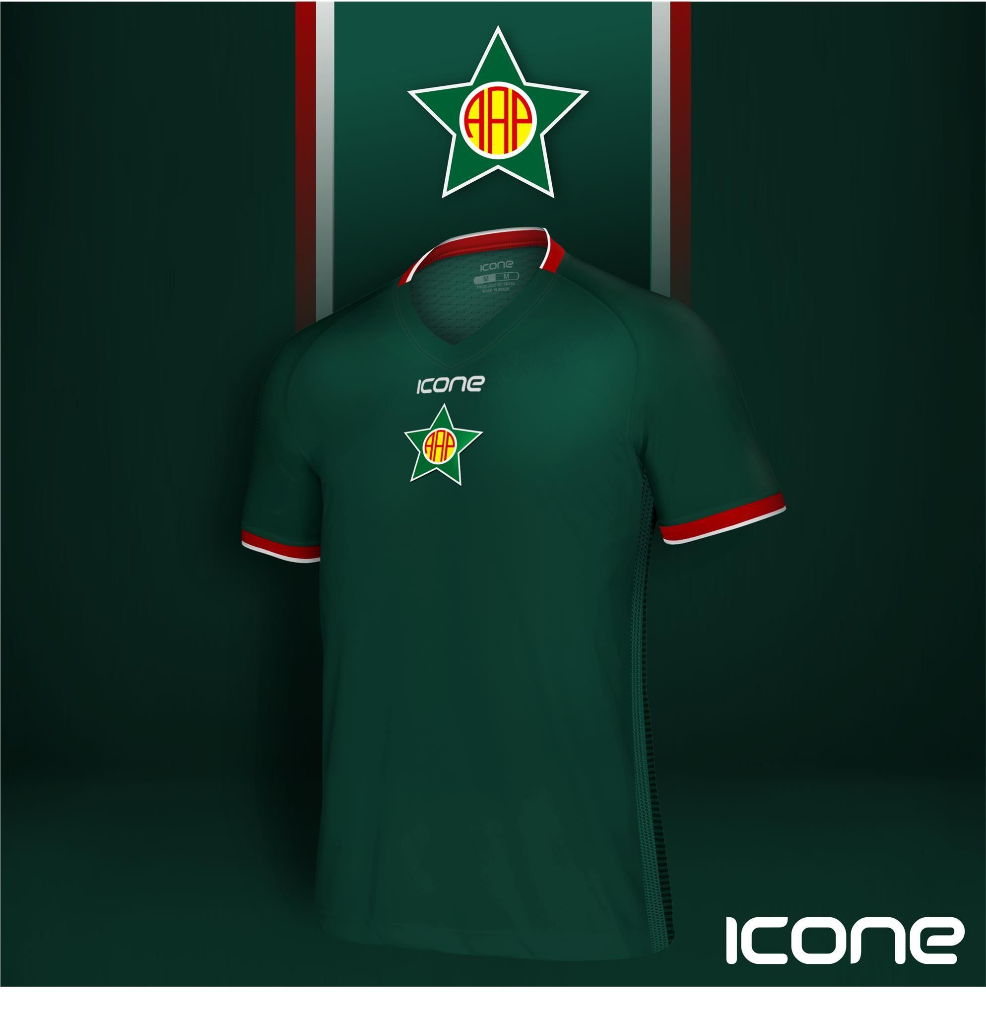 Uniforme 2018 da Portuguesa - RJ. Produzida pela Icone Sports o melhor  material Esportivo Personalizado 972211621d16c