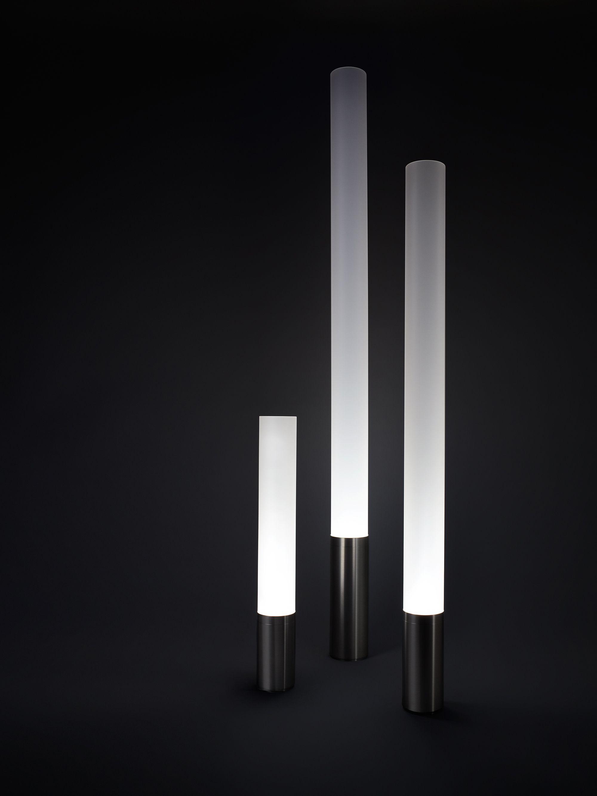 Really cool modern floor lamps, from 1-7 feet, $110-$380. Candelabra bulbs.