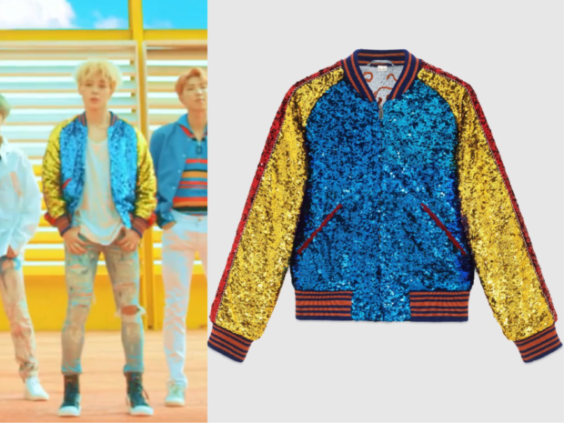 Jimin Wears Gucci Bomber Jacket In Bts Dna Music Video Kpop