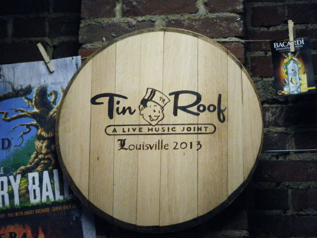 Custom Barrel Head For Tin Roof Louisville Made From