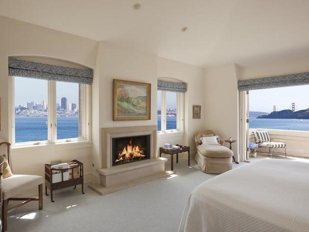Master Bedroom: Spectacular Bayside Estate in Belvedere