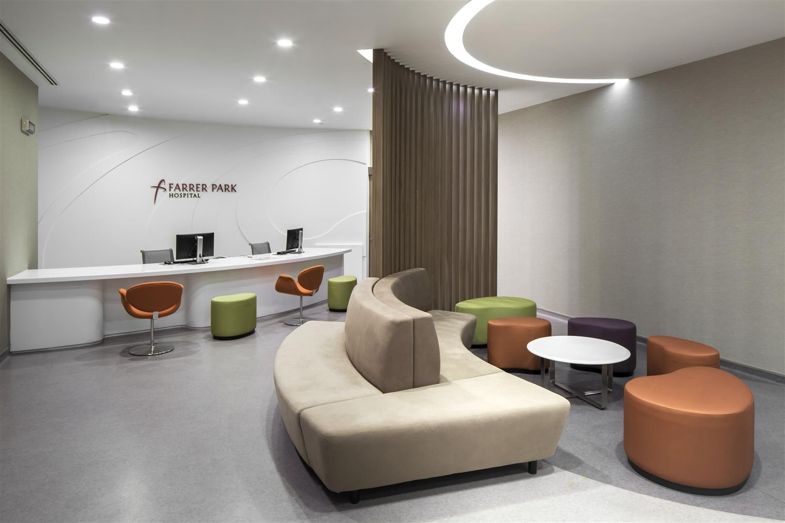 Seating Area At The Farrer Park Hospital Singapore By Dp Design
