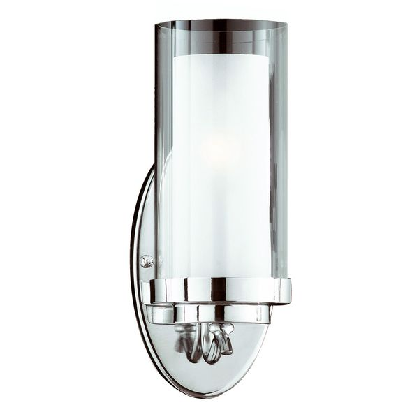 Cylindique 1 Light Chrome Wall Sconce