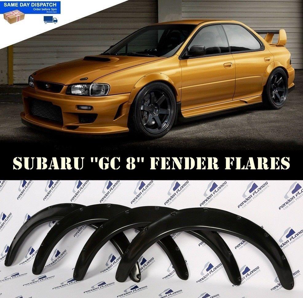 Subaru Impreza Wrx 92 00 Wheel Fender Flares Arches Extensions Wide Body 4 Pcs Fender Flares Subaru Impreza Subaru