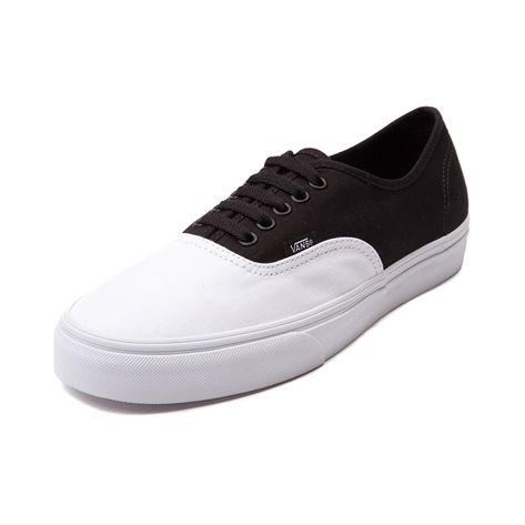 shop for vans authentic skate shoe in white black at journeys shoes
