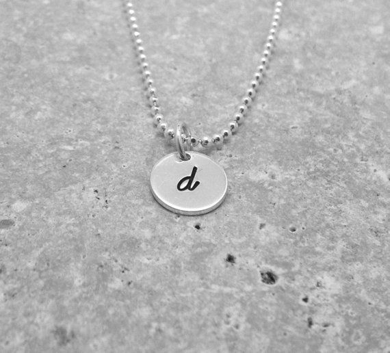 Sterling Silver Stamped Initial D Charm