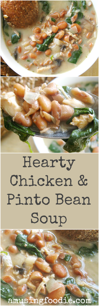 Hearty Chicken and Pinto Bean Soup | (a)Musing Foodie