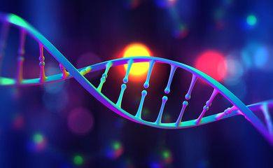 DNA helix. Hi Tech technology in the field of genetic ...