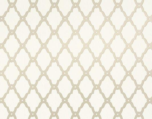 Rothbury trellis linen wallpaper thibaut