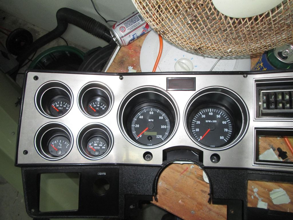 Vdo gauge panel build using factory housing 86 suburban the 1947 present chevrolet gmc truck message board network