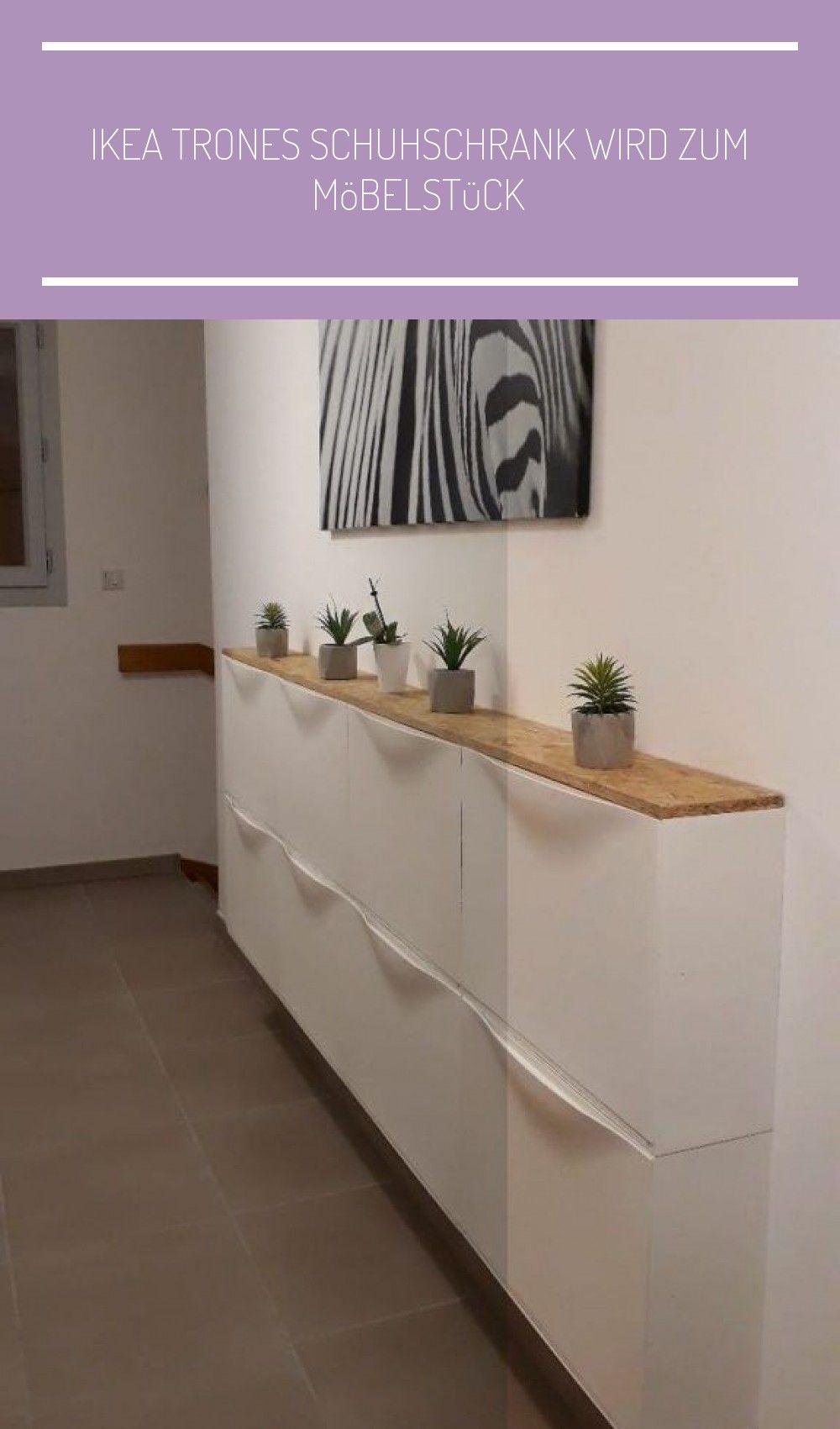 Photo of IKEA TRONES Schuhschrank wird zum Möbelstück #eingangsbereich hau