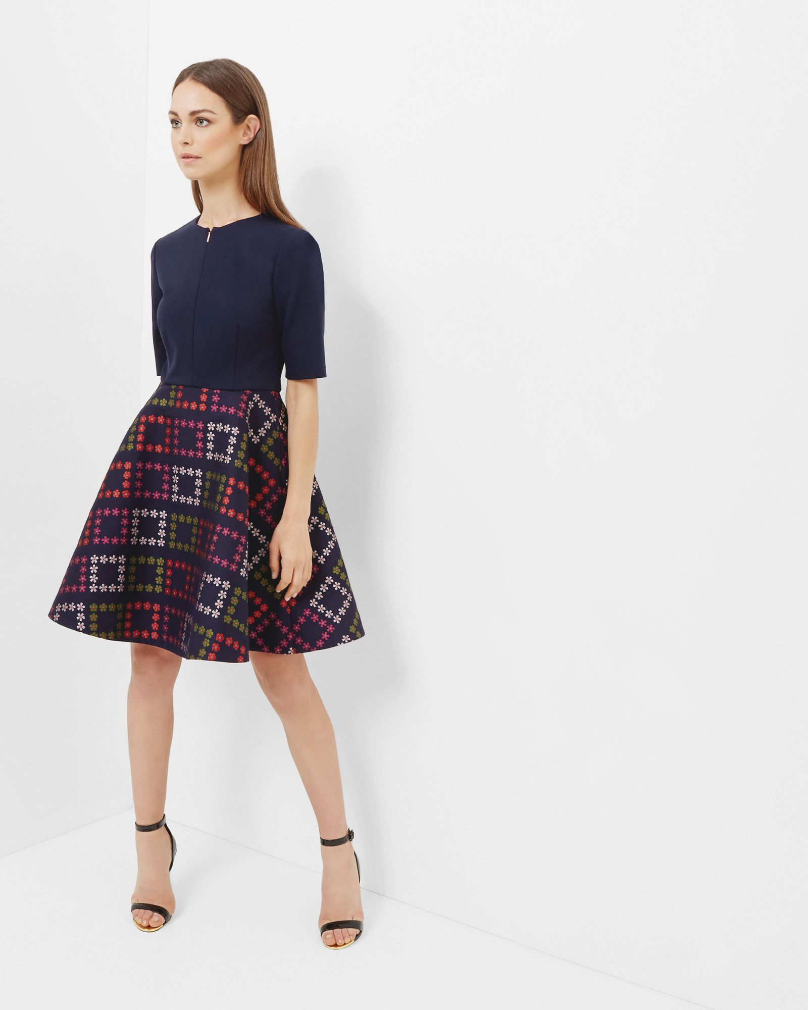 155e5182b3 Horticultural Checked dress - Navy