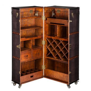 Armoire Coffre Colonial Bar Rustic Industrial Furniture Campaign Furniture Storage Furniture