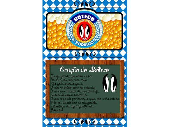 Imã para Geladeira com Oração do Boteco 10x15cm  www.catiacunha.com/blog