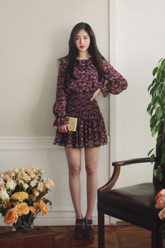 French Mood Flower Dress