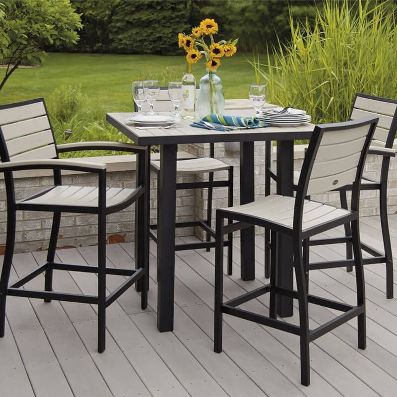 Pin By Dolly Weiss On Back Yard Ideas Polywood Outdoor Furniture Outdoor Bar Height Table Outdoor Tables And Chairs