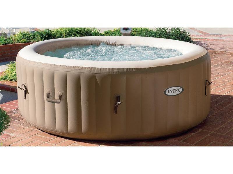 intex pure spa pool 75 portable back yard decor. Black Bedroom Furniture Sets. Home Design Ideas