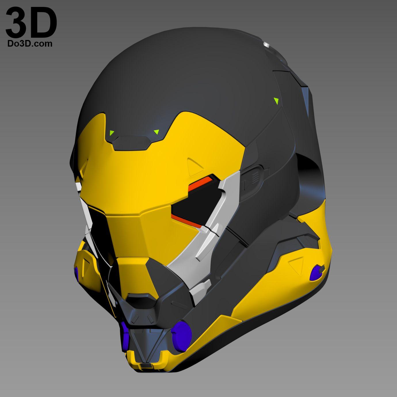 3D Printable Model: Anthem Online Game Helmet Ranger Javelin