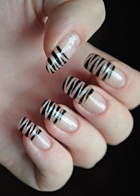 Tiger stripe nails lacquer obsession pinterest tiger stripe tiger stripe nails prinsesfo Image collections