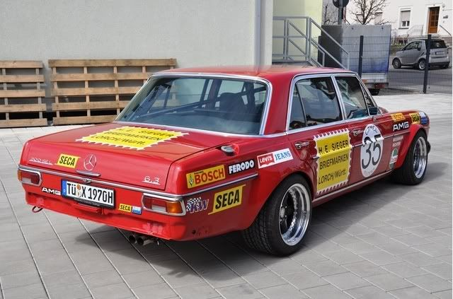 Red Sow Mercedes Benz 300 Sel 6 3 6 8 Amg Retro Rides