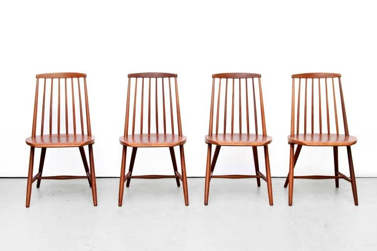Four Swedish Spindle Back Chairs Design By Yngve Ekstrom For Nassjo Stolfabrik 3 Furniture Inspiration Dining Room Chairs Chair Design