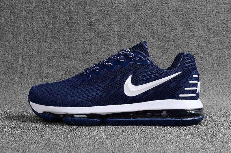 c017fc8b078 NIKE Air MAX 2019 KPU Navy Blue White Men Shoes