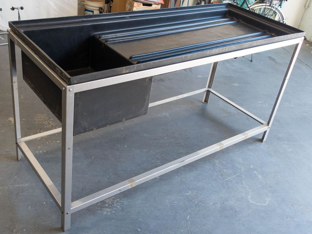6 Ft Darkroom Sink With Stainless Steel Stand For Film
