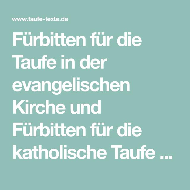 Fürbitten Für Die Taufe In Der Evangelischen Kirche Und