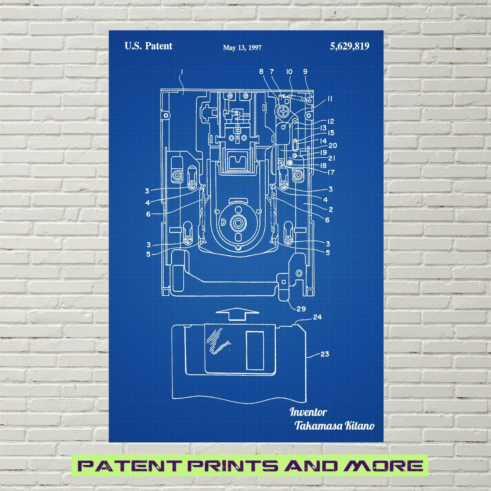 Floppy Disk Drive Patent Print Floppy Disk Poster Programmer Etsy In 2020 Patent Prints Patent Drawing Prints