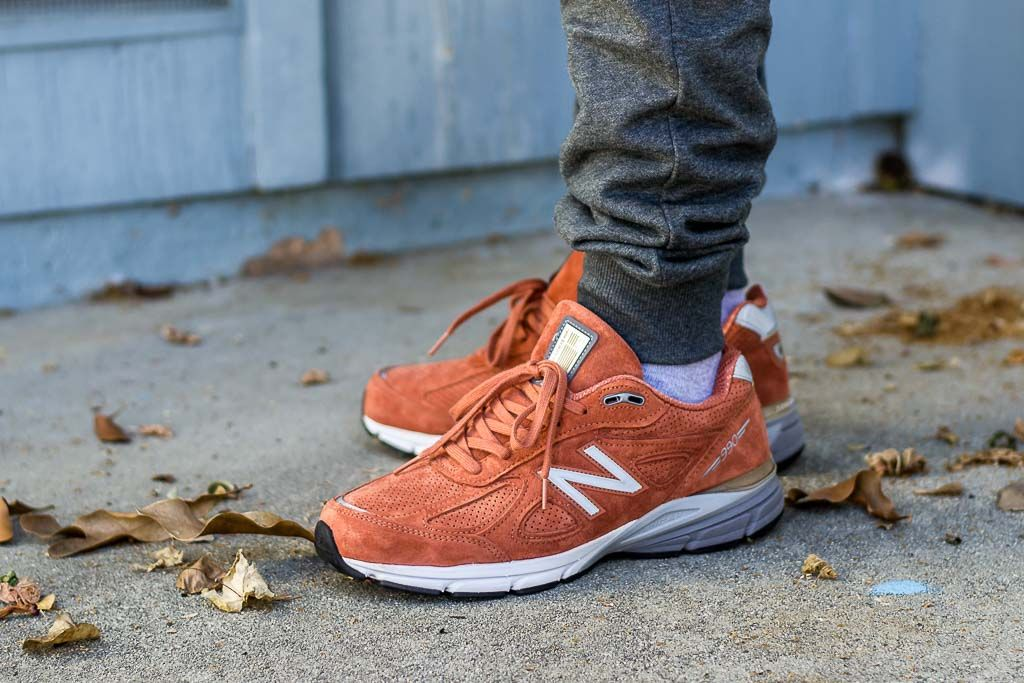 a6bfbb533f564 New Balance 990v4 Jupiter / Orange On Feet Sneaker Review | Sneakers ...