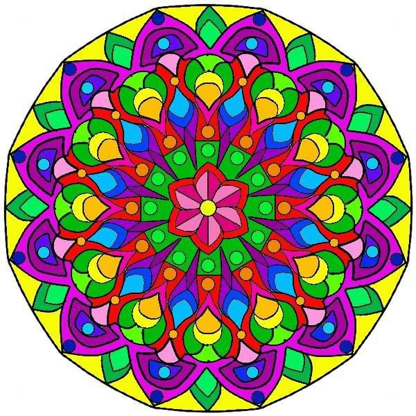 Image result for mandala in color