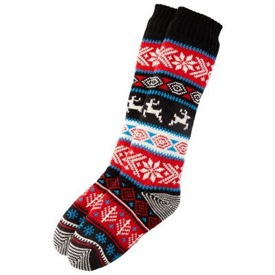 Women's Holiday Fair Isle Reading Sock by Indigo | Socks ...