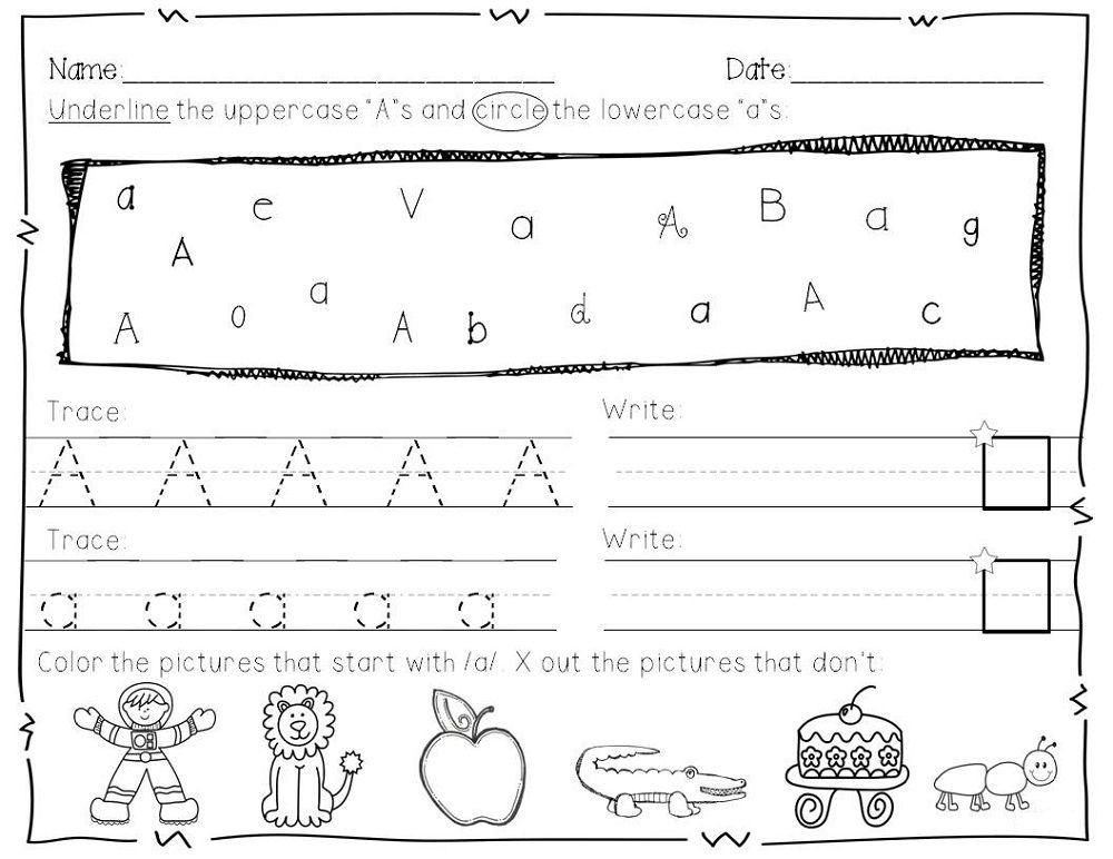 Letter Practice For Preschoolers | Activity Shelter | Kids ...