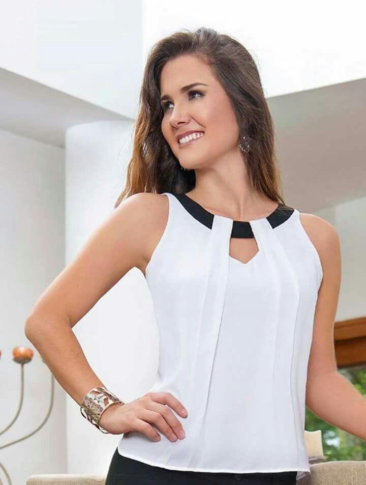 pingl par maura quimis sur blusas pinterest d tails de mode mod le pagne et couture robe. Black Bedroom Furniture Sets. Home Design Ideas